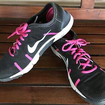 Nike Lunar Element Womens 10 Black Pink Running Cross Training Shoes 615743-002 Photo