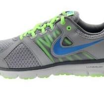 Nike Lunarlon Forever 2 Gray Blue & Neon Green Sneakers - Mens Size 9.5 Photo