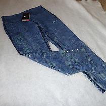 Nike M Medium Element Zen Epic Run Crop Pants Tights Style 719811 New Nwt  Photo