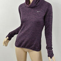 Nike Marled Purple Therma Sphere Element Cowl-Neck Long Sleeve Running Top S Photo