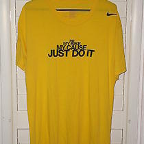 Nike Me My Bike My Cause Just Do It T Shirt Yellow Size Medium Photo