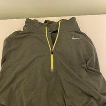 Nike Men Element 1/2 Zip Running Top Grey/yellow Small Running Photo