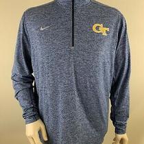 Nike Men's 1/4 Zip Heather Element Pullover Georgia Tech Yellow Jackets Size Xl  Photo