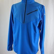 Nike Men's 502902 Thermal Element Half-Zip Running Blue 491 - New Photo