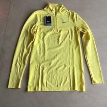 Nike Men's Element Golf Half Zip Training Running Top Yellow Large Bnwt Photo