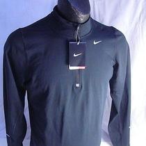 Nike Men's Element Half Zip Running Top Black 504606 010 Size Small Photo