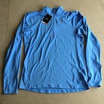 Nike Men's Element Half Zip Training Top Blue Medium Casual Gym Running Bnwt Photo