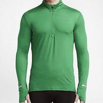 Nike Men's Element Half Zip Training Top Green Small Casual Gym Running Bnwt Photo