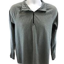 Nike Men's Gray Element Dri-Fit 1/2 Zip Pullover Shirt 519199 Sz M Photo