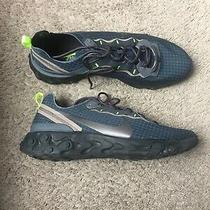 Nike Mens React Element 55 Grid Navy Trainer Runner Shoes Sneakers Sz 11.5 Photo