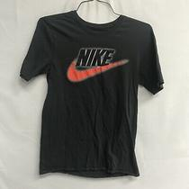 Nike Mens Short Sleeve Cotton Graphic T-Shirt Small S Blackfree Ship Photo