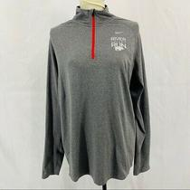 Nike Mens Element Dri-Fit  Reflective Running 1/2 Zip Shirt Large Embroidered Photo