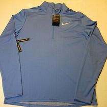Nike Mens Long Sleeve Dri-Fit Element Sphere 1/4 Zip Running Pullover Blue X Photo