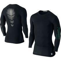 Nike Mens Pro Combat Hypercool Vapor Power Compression Shirt Black Baseball Photo