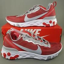 Nike Mens React Element 55 Ohio State Osu Training Shoes Sz 11 Running Red White Photo