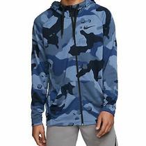 Nike Mens Sweater Blue Size 2xl Full Zip Camo Print Hoodie Dri-Fit 65 040 Photo
