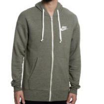 Nike Mens Tech Heritage Fleece Full Zip Hoodie Sweatshirt Grey Heather Xl Photo