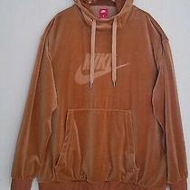 Nike Mens Velour Hoodie Ah3384-722 Pre-Owned Very Good Cond. Xl Elemental Gold Photo