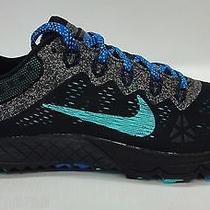 Nike Mens Zoom Terra Kiger 2 Running Shoes 654438 001 Black/ash/cobalt/jade 12 Photo