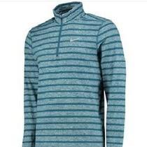 Nike New Element Stripe 1/2 Zip Running Shirt Blue 642911-496 Men's Size Small Photo