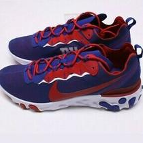 Nike New York Giants React Element 55 Nfl Shoes Ck4876-400 Size Men's 9.5 Photo