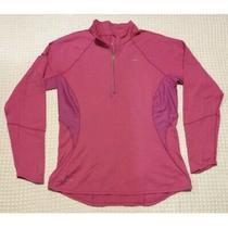 Nike Nikefit Element 1/4-Zip Shirt Pink Top Pullover Women's L Large Photo