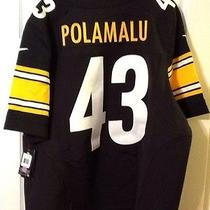 Nike Pittsburg Steelers Onfield Jersey  Troy Polamalu  New  Sz 52 468904-012 Photo