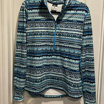 Nike Pro Dri Fit Quarter Zip Long Sleeve Pullover Athletic Blue Large Euc Photo