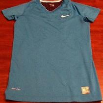 Nike Pro Fitted Dri-Fit Shirt - Size Small - Blue and Black Photo