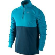 Nike Racer Element Dri-Fit Half Zip Long Sleeve Top Men's Blue Running Tags Xl Photo