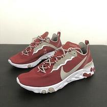 Nike React Element 55 Alabama Crimson Tide Mens Size 11 Running Shoes Ck4795-600 Photo