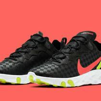 Nike React Element 55 Black Crimson Volt Running Shoes Cj0782-001 Size 11 130 Photo