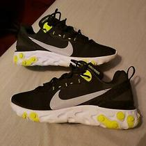 Nike React Element 55 Black Volt Mens Size 8.5 Running Shoes. Nice and Light Photo