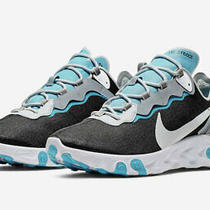 Nike React Element 55 Black White Blue Grey Running Shoes Size 11 Photo