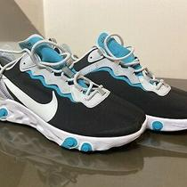 Nike React Element 55 Black White Blue Grey Running Shoes Sz 8.5 Photo