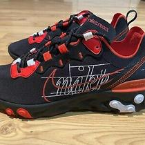 Nike React Element 55 (Ck9285-001) Eos Black Red Running Shoes - Size 8.5 Photo
