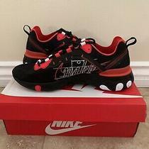 Nike React Element 55 Ck9285-001 Eos Black Red Running Shoes Men's Size 10 Photo
