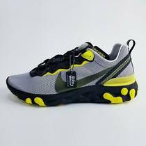 Nike React Element 55 Dynamic Yellow Running Sneakers Mens Size 9 Ck1686-001 Photo