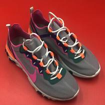 Nike React Element 55 Gray Fuchsia Running Shoes Bq2728-006 Women's Size 7 New Photo