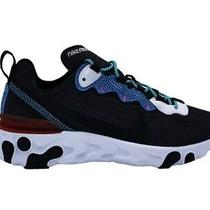 Nike React Element 55 if Sneakers Black White Baby Blue Red Cd2153-001 Photo