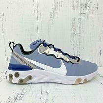 Nike React Element 55 Indigo Fog Navy White Mens Running Shoe Bq6166-402 Sz 10.5 Photo