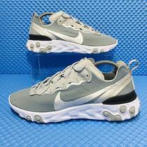 Nike React Element 55 (Mens Size 9.5) Athletic Sneakers Gray White Photo