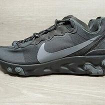 Nike React Element 55 Mens Running Shoes Sz 8 Black Dark Grey New Bq6166-008 (B4 Photo