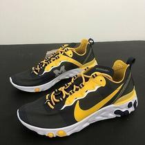 Nike React Element 55 Michigan Wolverines Men's Size 10.5 Running Shoes Photo