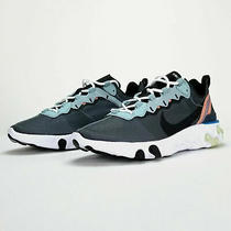 Nike React Element 55 Ocean Cube Black Men's Size 8 Sneakers Bq6166 300 Photo