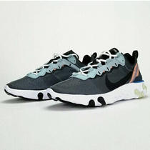 Nike React Element 55 Ocean Cube Black Pink Men's Sneakers Bq6166 300 Size 9 New Photo