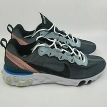 Nike React Element 55 Ocean Cube Black Pink Men's Sneakers Size 10.5 Bq6166-300 Photo