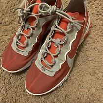Nike React Element 55 Osu Ohio State Buckeyes Sneakers Ck4798-600 Size 9.5 Photo