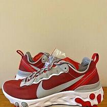 Nike React Element 55 Osu Ohio State Buckeyes Sneakers Ck4798-600 Size 7 Photo