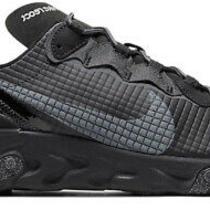 Nike React Element 55 Prm Black Grey Running Shoes Gray Gym Ci3835-002 Size 9 Photo